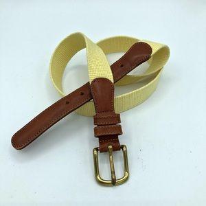 Coach Natural Linen Belt Brass Buckle 3818 Vintage